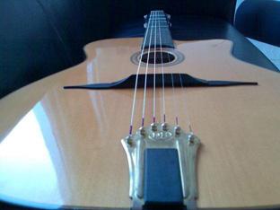 guitare contre plongée